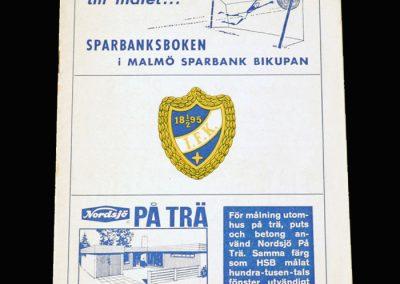 Malmo v Landskrona 16.06.1964