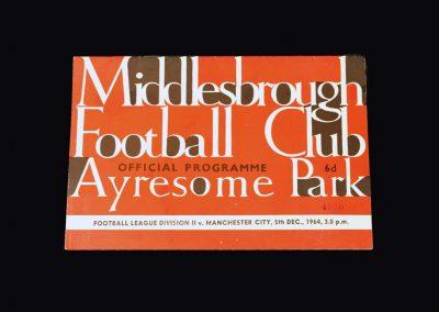 Man City v Middlesbrough 05.12.1964