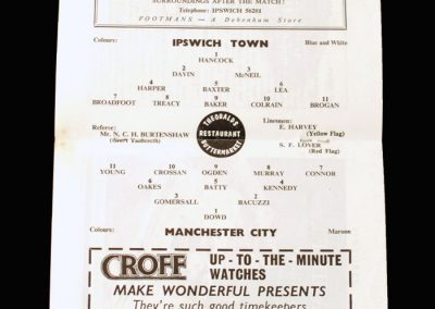 Man City v Ipswich 27.03.1965