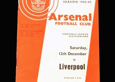 Arsenal v Liverpool 12.12.1964