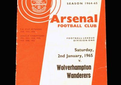 Arsenal v Wolves 02.01.1965