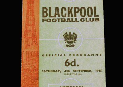 Blackpool v Liverpool 04.09.1965