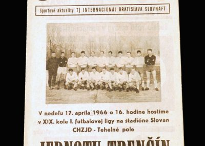 Slovan v Trencin 17.04.1966