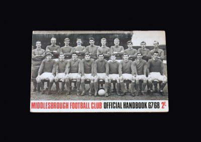 Middlesbrough Official Handbook 1967/68 Season