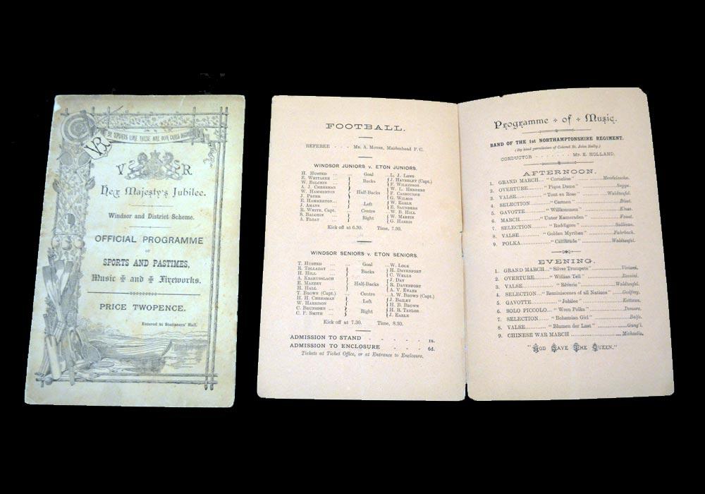 Windsor v Eton 20.06.1887 & 22.06.1887 - Queen Victoria Jubilee