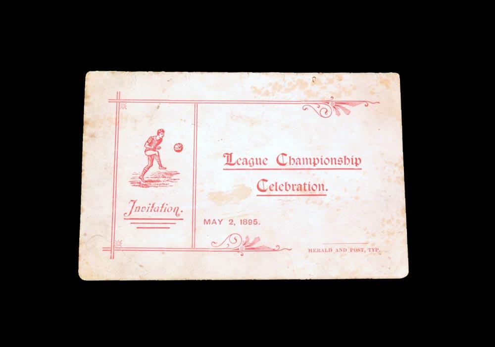 Sunderland Championship Celebration Invitation 02.05.1895