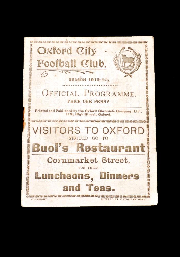 Oxford City v Borough Road 29.09.1910