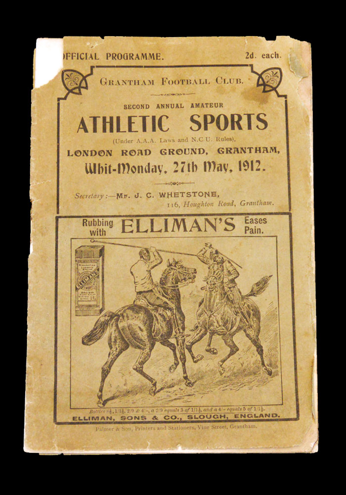 Athletic Sports at Grantham FC 27.05.1912