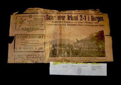 Norway v Ireland 25.05.1922 (Newspaper)