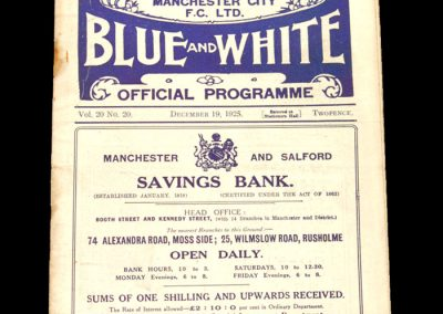Man City v Newcastle 19.12.1925