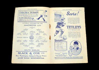 Man City v South Shields 27.11.1926 | Man City v Bolton 29.11.1926