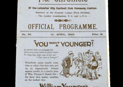 Leicester v Aston Villa 01.04.1929