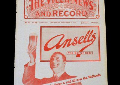 Aston Villa v Arsenal 25.09.1929