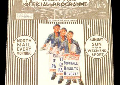 Newcastle v Man City 22.03.1930