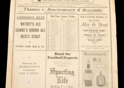 Thames v Bournemouth 04.10.1930