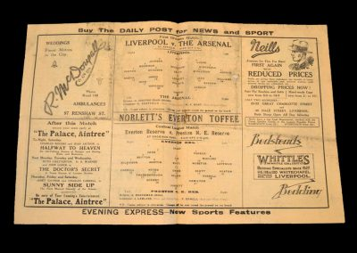Liverpool v Arsenal 13.12.1930
