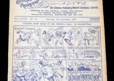 Chelsea v Arsenal 21.11.1931