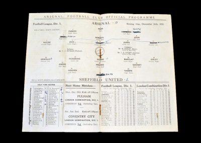 Arsenal v Sheff Utd 26.12.1931