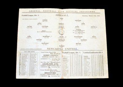 Arsenal v Newcastle 19.03.1932