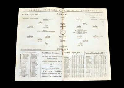 Arsenal v Chelsea 02.04.1932