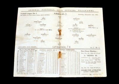 Arsenal v Liverpool 02.12.1933