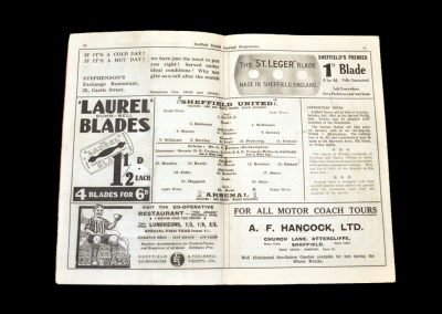 Sheff Utd v Arsenal 23.12.1933
