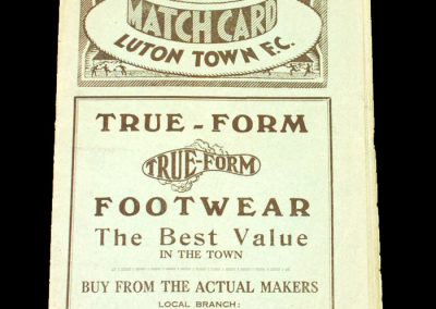 Luton Town v Arsenal 13.01.1934 - FA Cup 3rd Round