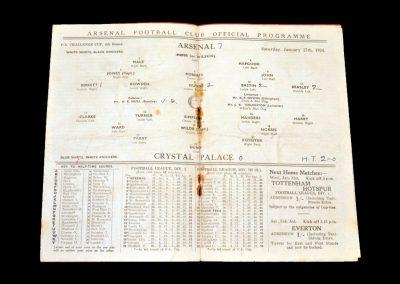Arsenal v Crystal Palace 27.01.1934 - FA Cup 4th Round