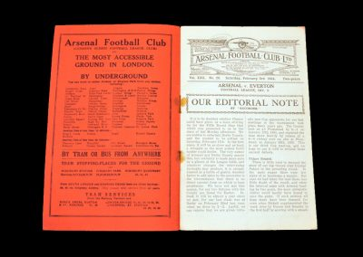 Arsenal v Everton 03.02.1934