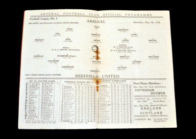 Arsenal v Sheff Utd 05.05.1934