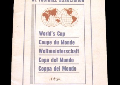 FIFA Tournament Rules - World Cup1934