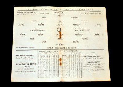 Arsenal v Preston 25.12.1934