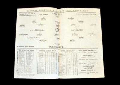 Arsenal v Portsmouth 29.12.1934