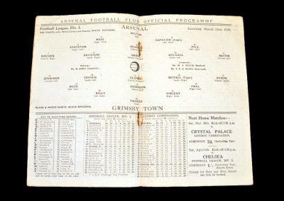 Arsenal v Grimsby 23.03.1935