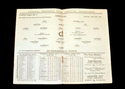Arsenal v Huddersfield 20.04.1935