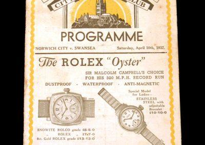 Norwich v Swansea 10.04.1937