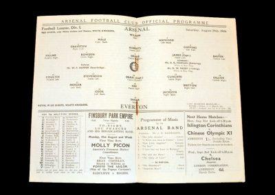 Arsenal v Everton 29.08.1936
