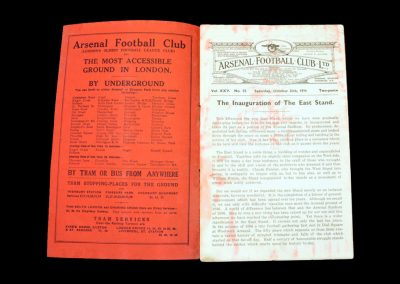 Arsenal v Grimsby Town 24.10.1936