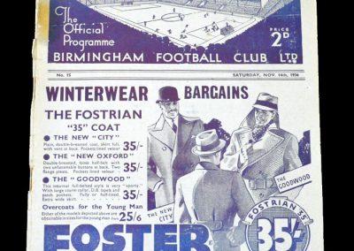 Birmingham v Arsenal 14.11.1936