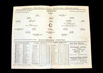 Arsenal v Man Utd 30.01.1937 - FA Cup 2nd Round