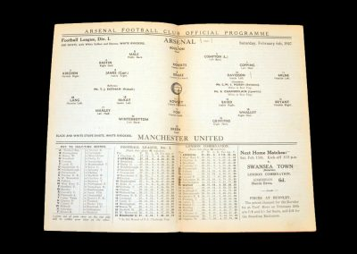 Arsenal v Man Utd 06.02.1937