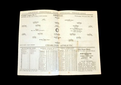 Arsenal v Charlton 24.02.1937