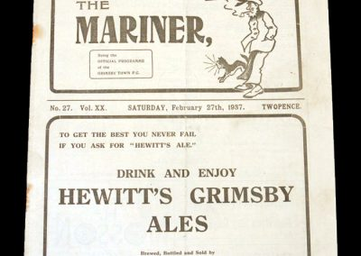 Grimsby Town v Arsenal 27.02.1937