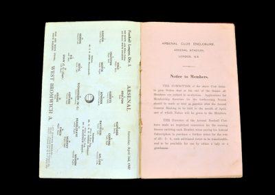 Arsenal v West Brom 03.04.1937