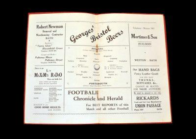 Arsenal v Portsmouth 19.04.1937 (at Bath City)
