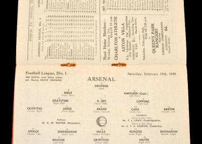 Arsenal v Chelsea 19.02.1938