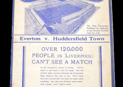 Everton v Huddersfield 25.09.1937