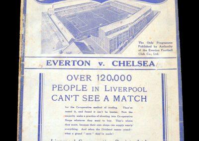 Everton v Chelsea 13.11.1937