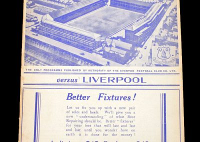 Everton v Liverpool 01.10.1938