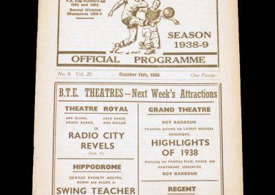 Bolton v Everton 15.10.1938
